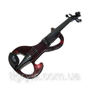 Детская игрушка - Скрипка - на батарейках, без смычка - мелодии от замыкания струн пальцами