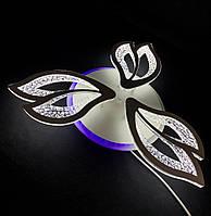 Стельова світлодіодна люстра три пелюстки біла 55 вт, фото 1