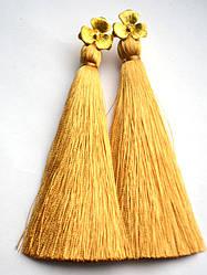 Серьги с кистями Золотой цветок