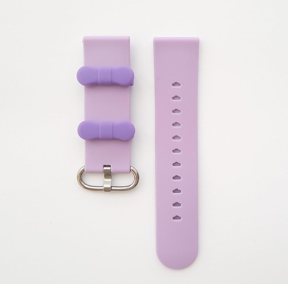 Ремешок для детских часов Smart baby DF25 / Q100 Aqua / Q300 / Q300s / GW400s Фиолетовый