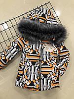 Детская зимняя курточка для девочки (на рост 104 см), фото 1