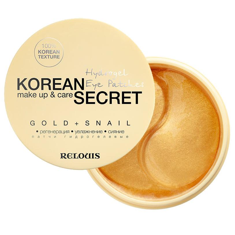 Патчі для шкіри навколо очей Relouis Korean Secret Gold & Snail гідрогелеві 60 шт