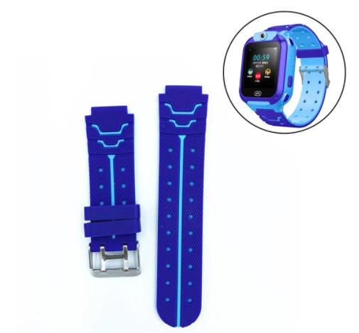 Ремешок для детских часов Smart baby Q12 / S12 / DF22 / TD07S / DF40 / IQ4900 / IQ2400 Голубо-синей