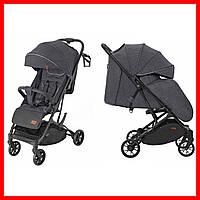 Детская прогулочная коляска CARRELLO Presto CRL-9002 Oil Grey + дождевик темно-серый цвет. Дитячий візок