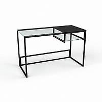 Стол компьютерный из прозрачного стекла модель Инди