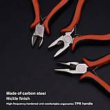 """Набор мини плоскогубцев, длинногубцев и бокорезов 4,5"""" Harden Tools 560309, фото 5"""
