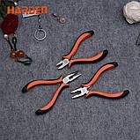 """Набор мини плоскогубцев, длинногубцев и бокорезов 4,5"""" Harden Tools 560309, фото 6"""