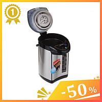 Термопот Domotec MS-6000 6 литров. Электрический чайник-термос 6л, насос, ручная помпа.