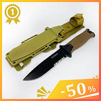 Тактический нож Gerber 810. Нож для охоты, рыбалки и туризма. Охотничий нож. Нож для выживания. Нож в чехле.