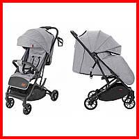 Детская прогулочная коляска CARRELLO Presto CRL-9002 Harbor Grey + дождевик серый цвет. Дитячий візок