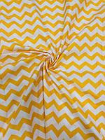 Ткань Бязь Gold Зиг-заг желтый 220 см, фото 1