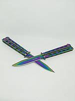 Нож бабочка GERBR 22,5см АК-59 градиент.Балисонг.Butterfly flipping knife.Складной нож.Нож из кс го cs go fade, фото 3