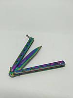 Нож бабочка GERBR 22,5см АК-59 градиент.Балисонг.Butterfly flipping knife.Складной нож.Нож из кс го cs go fade, фото 6