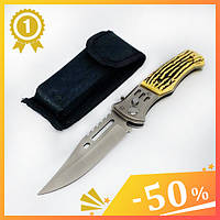 Нож выкидной 21 см АК-29. Нож складной с предохранителем. Нож для охоты, рыбалки и туризма. Универсальный нож.