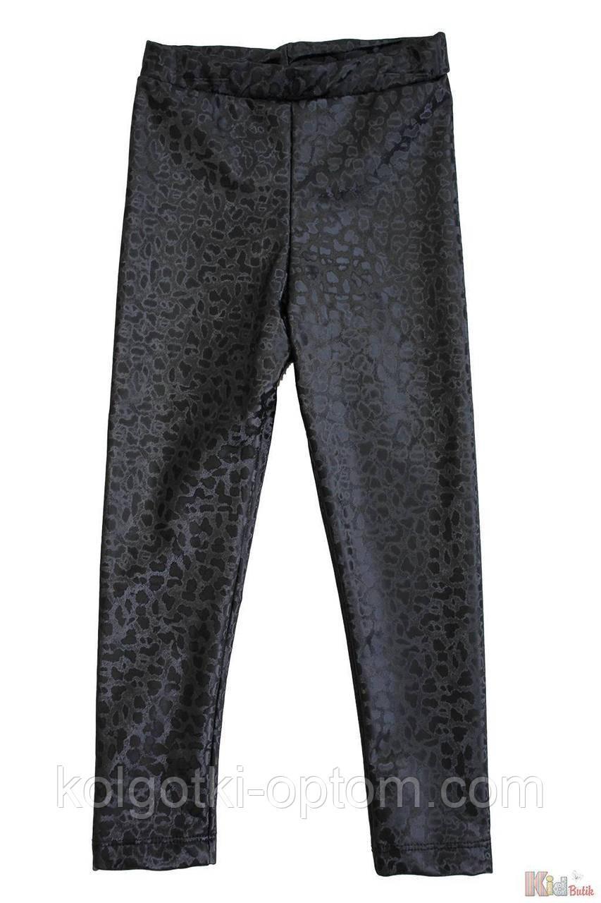 ОПТОМ Лосины утепленные черные с принтом для девочки (110 см.)  Lovetti 8690000079452