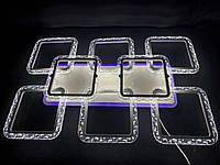 Светодиодная led люстра 6+2 квадрата белая 150 вт, фото 1
