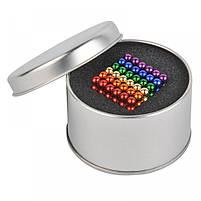 Неокуб Neocube разноцветный 216 шариков 5мм в металлическом боксе. Магнитный конструктор антистресс неокуб., фото 3