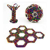 Неокуб Neocube разноцветный 216 шариков 5мм в металлическом боксе. Магнитный конструктор антистресс неокуб., фото 6