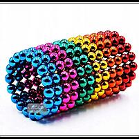 Неокуб Neocube разноцветный 216 шариков 5мм в металлическом боксе. Магнитный конструктор антистресс неокуб., фото 8
