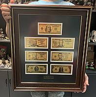 """Панно декоративне подарункове """"Всі банкноти USD (долар США"""""""