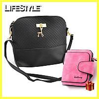 Женская сумка-клатч Бэмби, Маленькая сумка Bambi + Подарок женский кошелек!