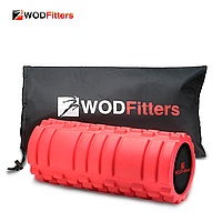 Массажный роллер WODFitters Foam Roller (красный, 33х14 см)
