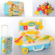 Детская крупная мозаика на шурупах RX1900-13   Арт мозаика   Мозаика 2 в 1   Чемодан на колеса  