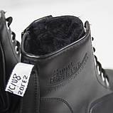 Жіночі зимові черевики на масивній підошві Loretta Y204 black чорні на шнурівці ,на осінь-зиму. 36 - 41 р., фото 2