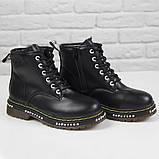 Жіночі зимові черевики на масивній підошві Loretta Y204 black чорні на шнурівці ,на осінь-зиму. 36 - 41 р., фото 5