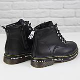 Жіночі зимові черевики на масивній підошві Loretta Y204 black чорні на шнурівці ,на осінь-зиму. 36 - 41 р., фото 6