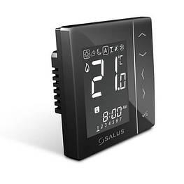 Зональный терморегулятор беспроводной Salus  VS10BRF 230В скрытого монтажа (черный)