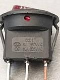 Выключатель круглый ON-OFF (6.5A 250VAC) SPST 3P IRS-101-8C  RED, фото 2