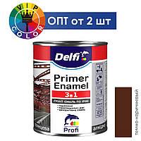 Del грунт-эмаль по ржавчине 3 в 1 - темно-коричневый, 2.8 кг