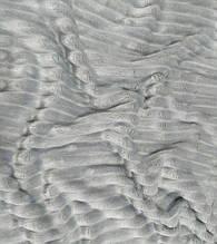 Плюшевый чехол на кушетку 76 см на 200 см - светло-серый (шарпей)