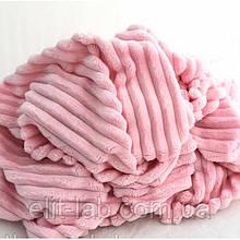 Плюшевый чехол на кушетку розовый 76 см на 200 см