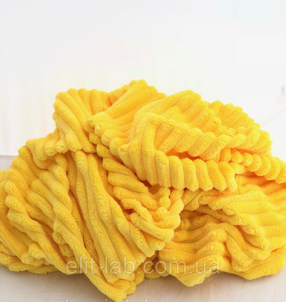 Плюшевый чехол на кушетку 76 см на 200 см - желтый (шарпей)