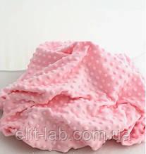 Плюшевый чехол на кушетку 80 см на 200 см - розовый в пупырышку