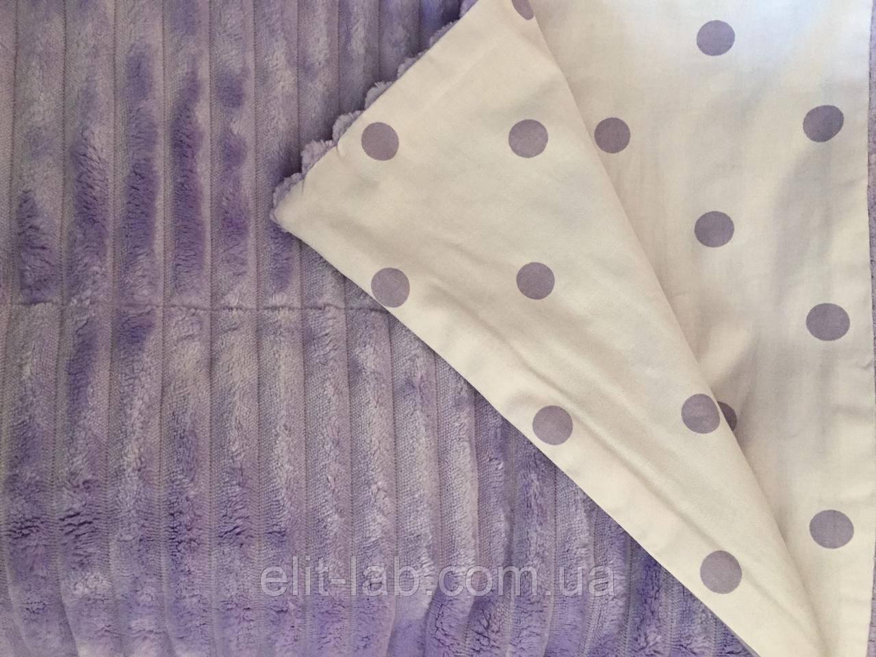 Плюшевый плед на кушетку 120 см на 160 см - фиолетовый
