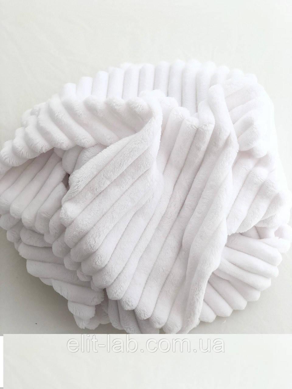Плюшевий чохол на кушетку 76 см на 200 см - білий (шарпей)