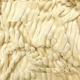 Плюшевий чохол на кушетку 76 см на 200 см - білий (шарпей), фото 3