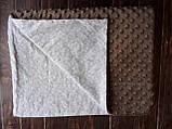 Плюшевый плед на кушетку 120 см на 160 см -  светло-серый шарпей, фото 4