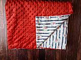 Плюшевый плед на кушетку 120 см на 160 см -  светло-серый шарпей, фото 8