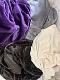 Плюшевий чохол на кушетку 87 см на 210 см - молочний (махра), фото 2
