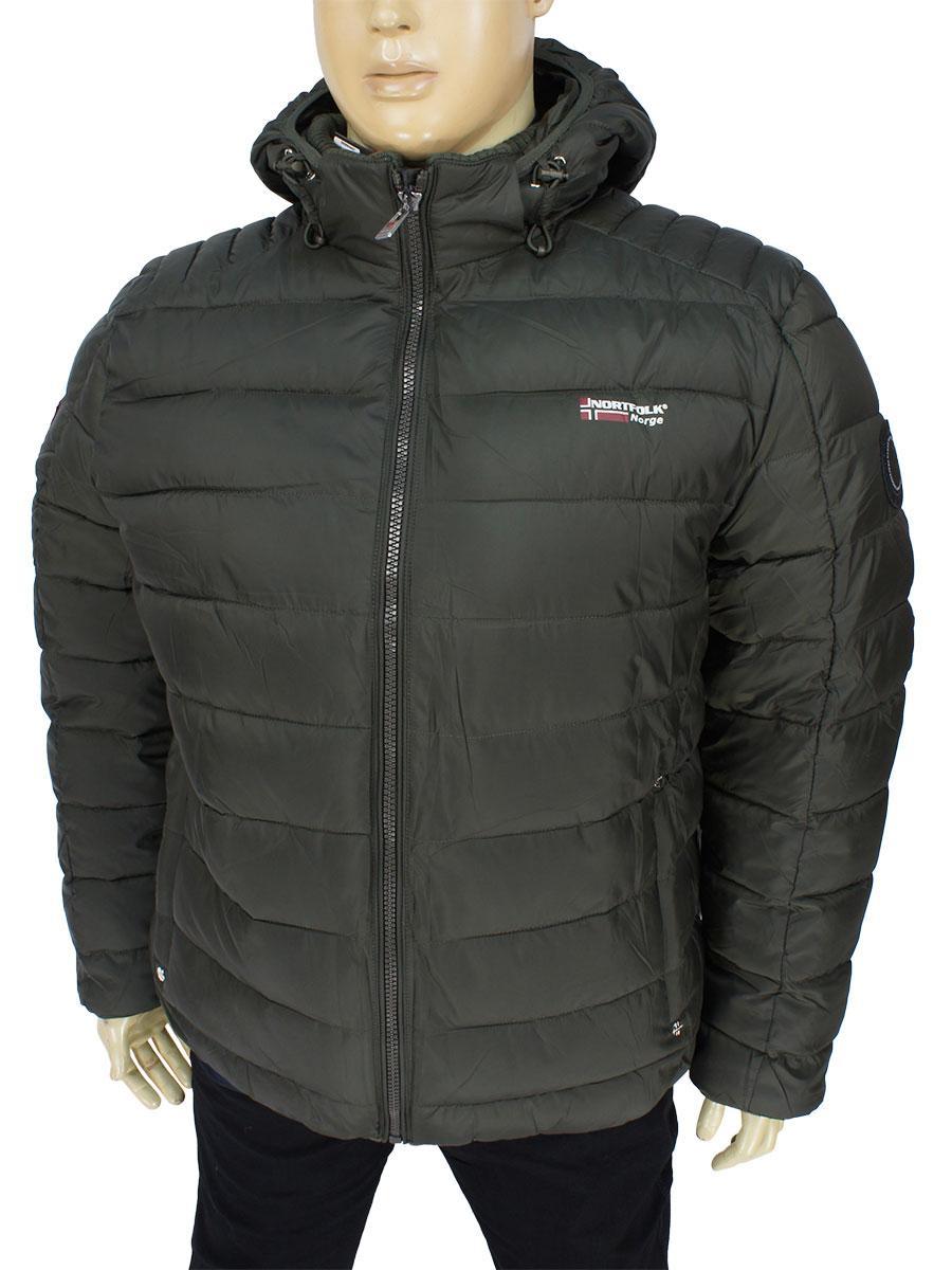Зимова чоловіча куртка Nortfolk N22NB Haki великих розмірів