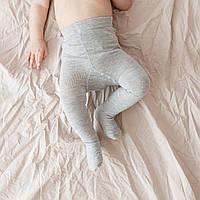 """Колготки для малышей до года """"Base"""" серые. Размеры: 0-6 и 6-12 мес."""