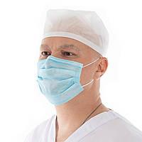 От 500 шт Маска одноразовая защитная для лица медицинская с мельтблауном