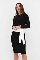 S, M, L | Жіноче класичне плаття з поясом Karina, чорний