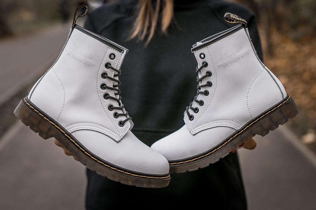 Женские белые Ботинки Dr.Martens