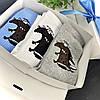 Подарочный набор женский носки 3 шт Бобры белые, серые, голубые, фото 2