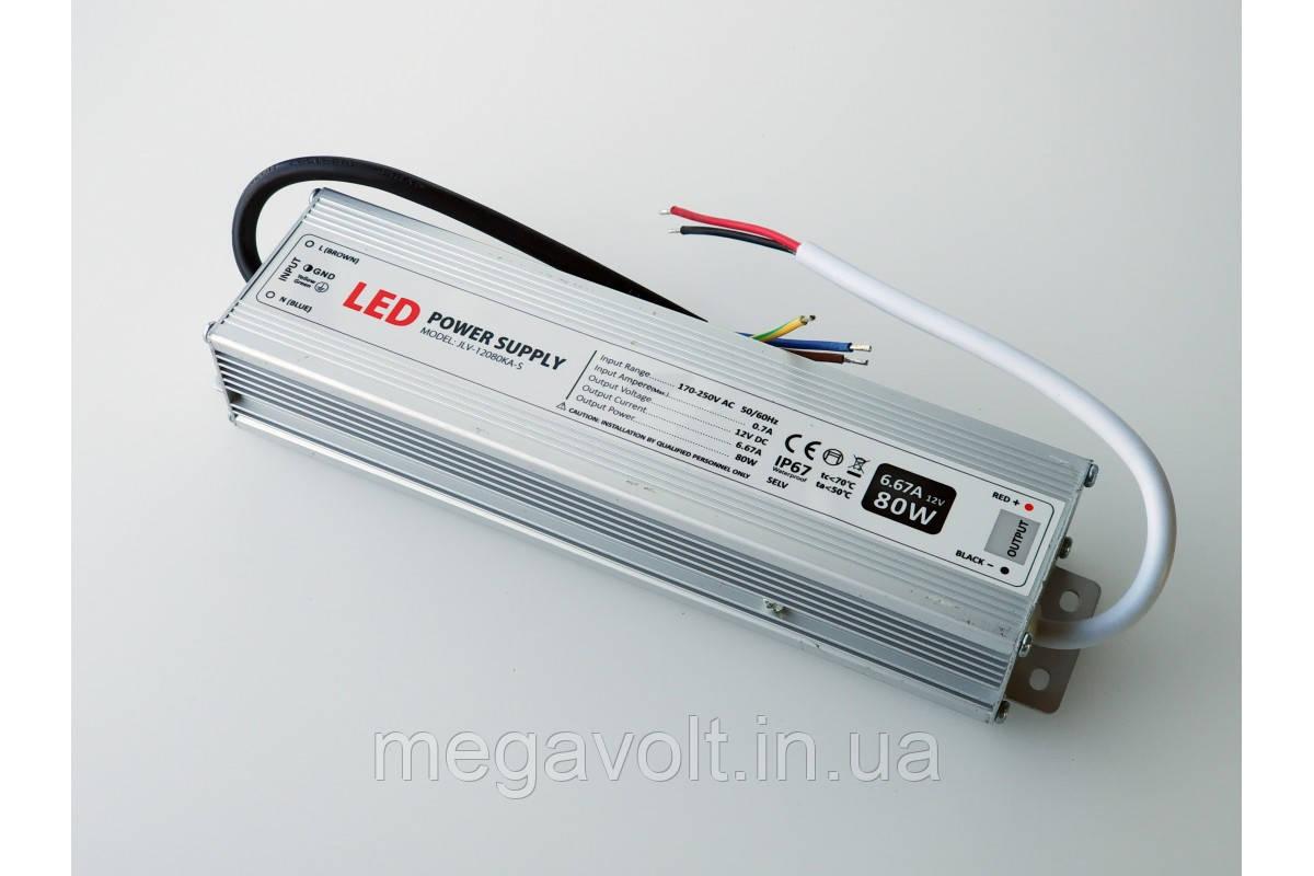 Блок питания 80W 12V герметичный premium Jinbo